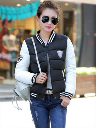 Áo phao nữ Hàn Quốc kiểu bóng chày sporty TA105