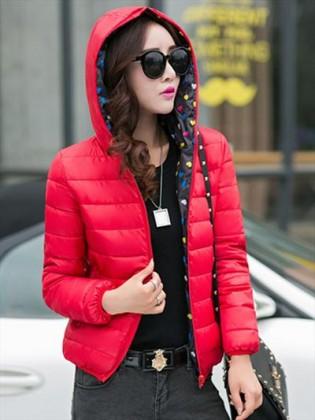 Áo phao lông vũ Hàn Quốc siêu nhẹ lót chấm bi TA115