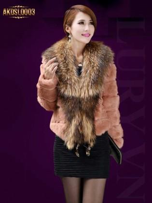 Áo khoác lông chồn AKDSL0003