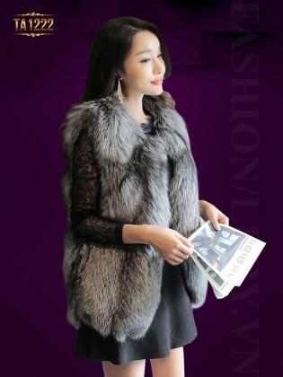 Áo khoác lông ghi-lê Hàn Quốc nhập khẩu cao cấp TA1222 ( Xám đen)