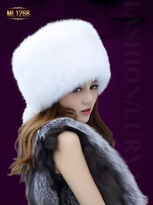 Mũ nồi lông trơn phong cách HQ thời trang ML1268 (Màu trắng)