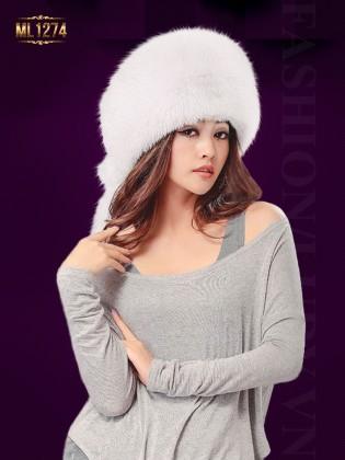 Mũ lông nồi HQ màu trơn thời trang ML1274 (Màu trắng)