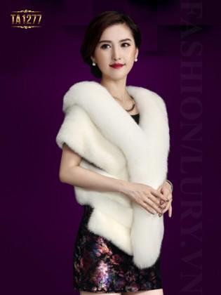 Khăn choàng lông Hàn Quốc sang trọng TA1277 (Màu trắng)