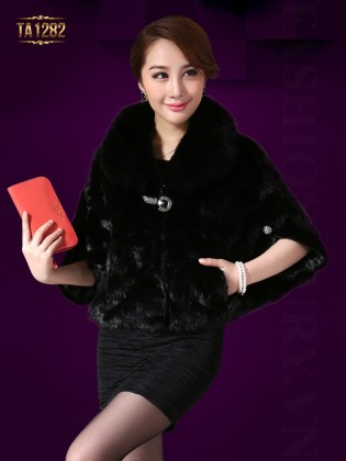 Khăn choàng lông Hàn Quốc đính đá cao cấp TA1282