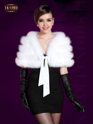 Khăn choàng lông Hàn Quốc thắt dây nơ thời trang TA1283