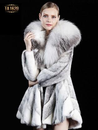 Áo khoác TA1620 mới 2017 chất lông thú 100% tự nhiên cao cấp