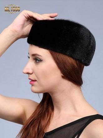Mũ nồi ML1598 mới 2017 chất lông thú 100% tự nhiên cao cấp (Màu đen)