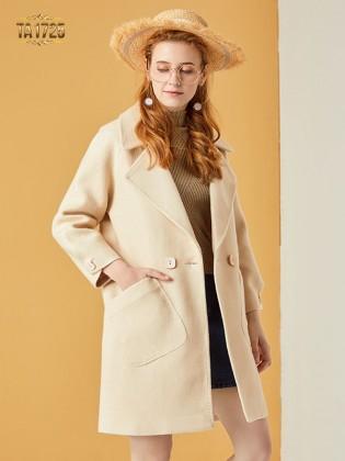 Áo khoác dạ TA1725 mới 2017 cổ vest túi lệch