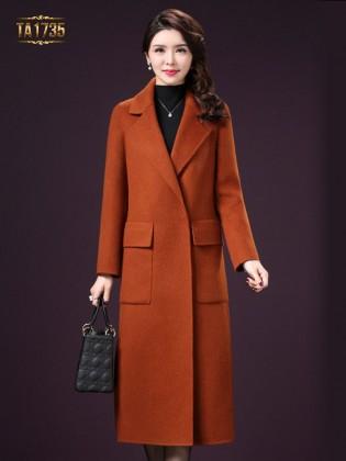 Áo khoác dạ TA1735 kiểu cổ vest túi hộp cao cấp 2017 (Màu cam)