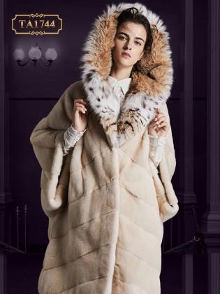 Áo lông thú  TA1744 100% tự nhiên oversize thiết kế độc quyền mới 2019