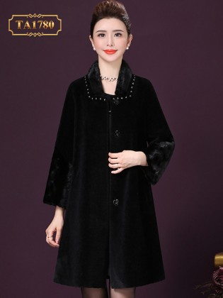 [New 2020]Áo khoác lông nhung TA1780 hàng hiệu cổ đính đá cao cấp mẫu mới