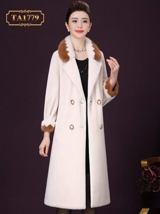 [New 2020]Áo lông cho nữ tự nhiên TA1779 hàng cao cấp thiết kế mới