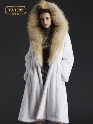 [New 2020]Áo khoác lông thú TA1795 tự nhiên nhập khẩu mẫu mới