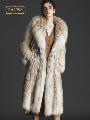 [New 2020]Áo lông thú TA1796 100% tự nhiên họa tiết thời trang mẫu mới
