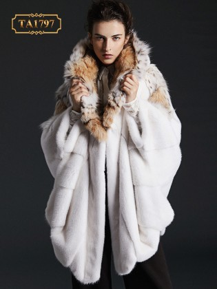 [New 2020]Áo khoác lông thú TA1797  tự nhiên thiết kế độc quyền mẫu mới