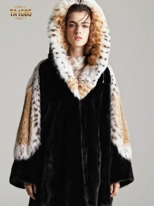 [New 2020]Áo khoác lông TA1805  100% tự nhiên thiết kế giới hạn