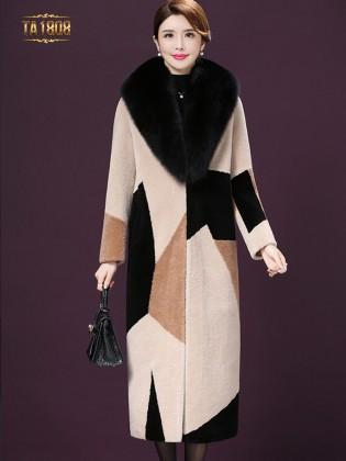 [New 2020]Áo khoác lông TA1808 họa tiết cao cấp phối màu sang trọng