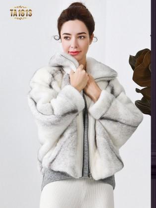 [New 2020]Áo khoác lông thú thật TA1813 cánh dơi dáng ngắn mẫu giới hạn