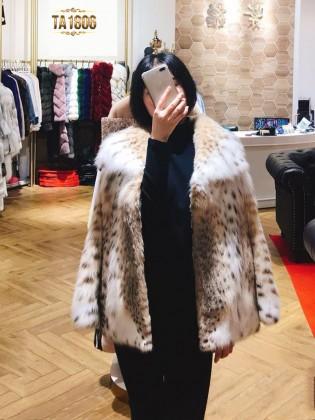 [New 2020] Áo khoác lông tự nhiên dáng dài viền nhún mẫu giới hạn TA1806