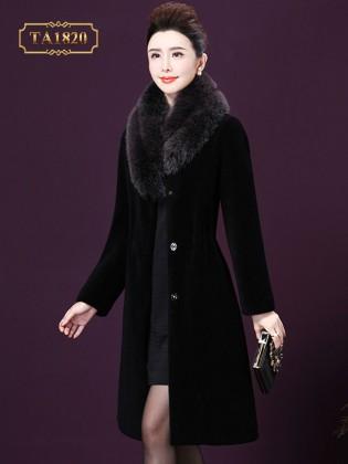 Áo khoác lông cao cấp lót da chiết eo thời thượng TA1820