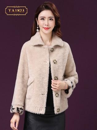 Áo khoác lông dáng ngắn túi nắp hộp thời trang TA1823