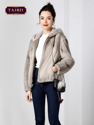 Áo khoác lông nhung khóa kéo thời trang TA1831