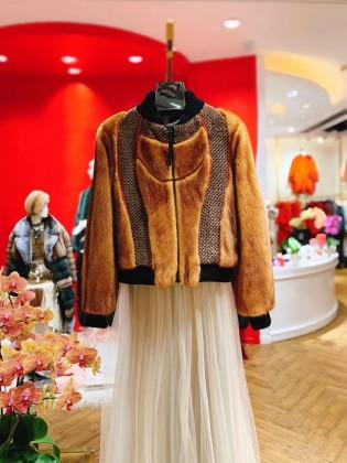 Áo khoác lông tự nhiên 100% nhập khẩu Châu Âu sành điệu
