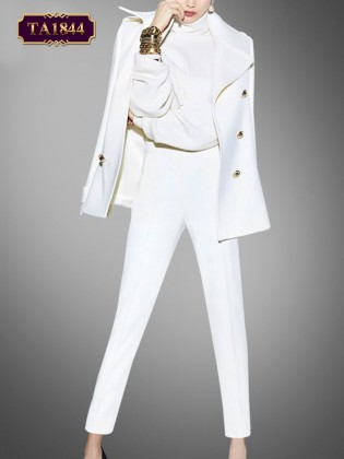 Set bộ vest trắng phong cách thời trang công sở TA1844