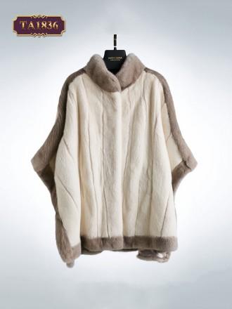 Áo khoác lông tay cánh dơi thời trang phối màu trang nhã TA1836