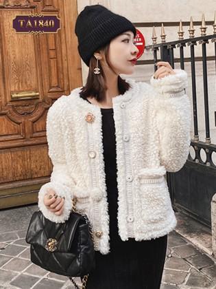 Áo khoác lông dáng ngắn 2 túi thời trang TA1840